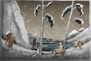 Japanese Snow Scene Colour Final by mr-macd