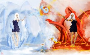 Yin Yang - Fire and Ice by Ancientdrake