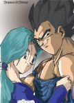 Vegeta + Bulma by The-Ebony-Phoenix