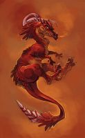 Red dragon by Drkav