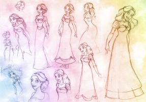 The Merry Widow - 1st sketches by andreshanti