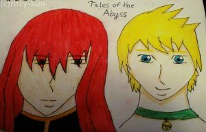 Tales of The Abyss: Asch+Guy by Ritzy-kun