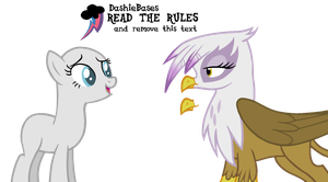 MLP Base: OC x Gilda 2 by DashieBases