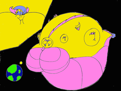 What if Flower: was Planet size in fat? by JacobTheDragon