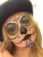 Sugar Skull with jewels by Mother-Confessor