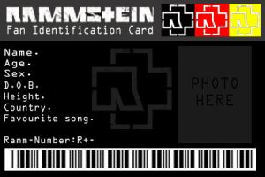 Rammstein ID card by BAZZ1392