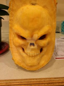 Skull Pumpkin Carving by Mgnelson