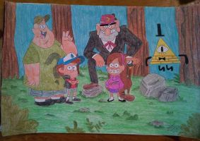 Gravity falls characters  poster finished by ShelandryStudio