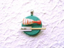 Sushi Pendant Necklace Charm by souzoucreations