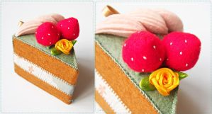 Green Tea Sliced Cake by bibiluv