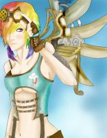 Steampunk Rainbow Dash by CannotBeUnseen