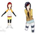 Elli Old and New character concept art by HonorOfStyle