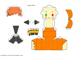 Papercraft MOTHER 3 Claus by lettucegirlchristy