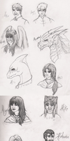 Characters by Name: A + B by Guiled-Dragon