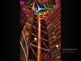 Compuware Waterfall Atrium by mayankg