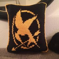 Mockingjay pillow by DrCaudel