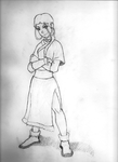 Katara Pencil Sketch by JordashTalon