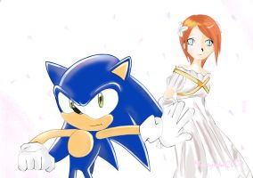 Sonic protects Elise :D by missyuna