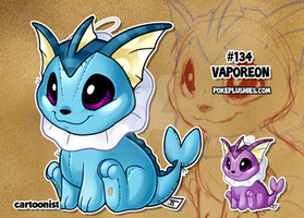 #134 Vaporeon by cartoonist