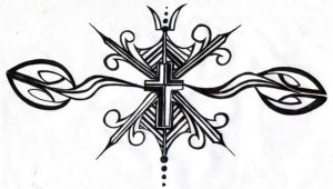 cross design tattoo by punk-rockess