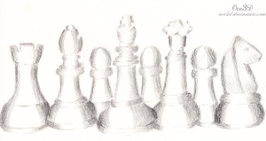 Chess pieces by Oce3D