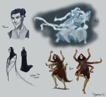 avatar sketches by Sarapsys