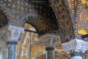 Ancient Columns and Capitals in the Hagia Sofia by artamusica