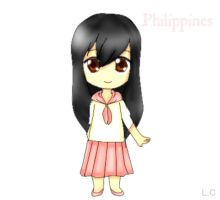 L.C's Chibis - Philippines (Base used) by Lunaticharmed