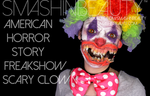 American Horror Story Freakshow Scary Clown Hallow by smashinbeauty