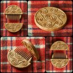 Triskelion Hair comb by pagan-art