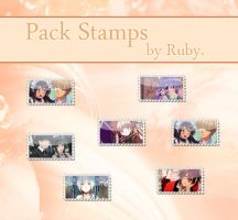 Pack stamps by Ruby by SpinelNightmare