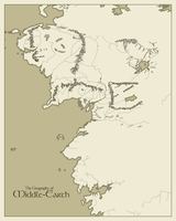 Geography of Middle Earth by ExtraNoise
