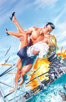 Namor 4 Cover Painting by mikemayhew
