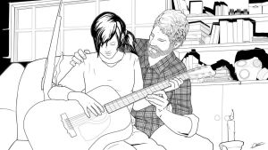 The Last of Us - Lineart by Hitokirisan