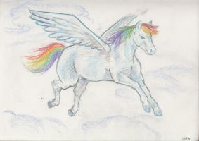 Daily Sketch Challenge - Rainbow Dash by crittercat