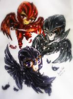 3 chibi higher angels from Dominion by AssassinoCream