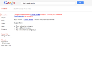 Find Chuck Norris by The-Capricious-Clown