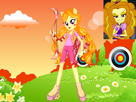 Adagio Dazzle: Friendship Games! by BerryPunchrules