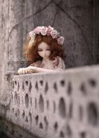Juliette on a balcony by AyuAna