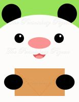 Panda Note Card by studio-emi