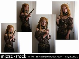 Pirates - Barbarian Queen Portrait Pack 4 by mizzd-stock