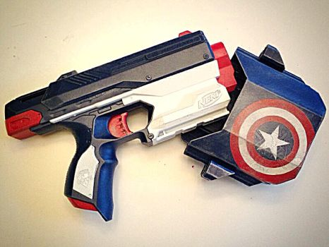 Captain America Nerf Sidestrike by nwdeal2