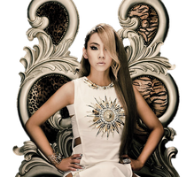 CL (2NE1) The Baddest Female Cut-Out by r-adiant