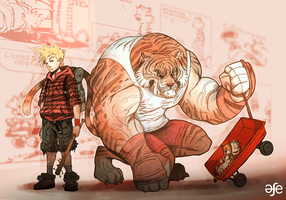 Calvin and Hobbes by MrG00