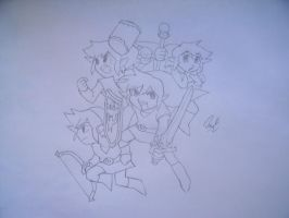 Loz Four Swords Magna by Drawingdude1098