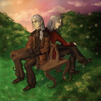 Commission - Chrys and Mephys by roryseviltwin