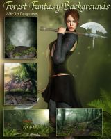 Forest Fantasy Backgrounds by SK-DIGIART