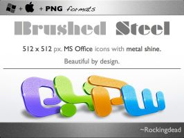 Brushed Steel for MS office 08 by rockingdead