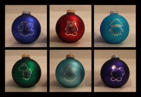 Mario Monster Christmas Ornaments by Yukizeal