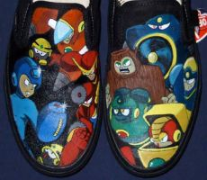 Megaman 2 Shoes by johneboi